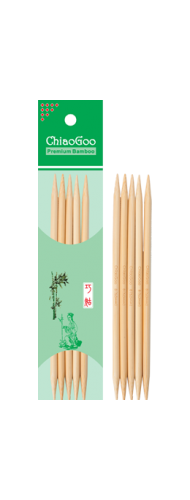 "ChiaoGoo 6"" Double Point Bamboo"