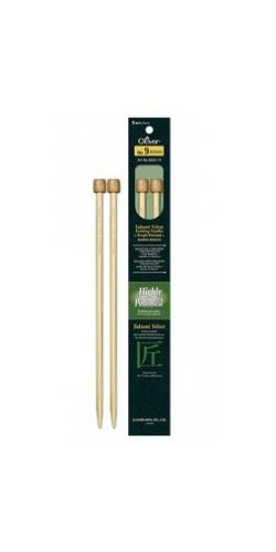 "Clover Velvet 9"" Bamboo Single Point Needles"