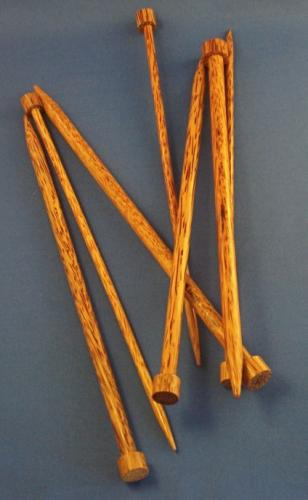 "10"" Coconut Palm Knitting Needles"