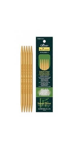 "Clover Velvet Bamboo 5"" Double Point Needles"
