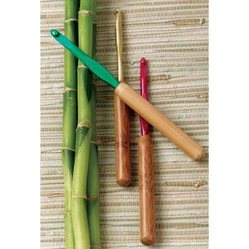 Silvalume Bamboo Handle Crochet Hook
